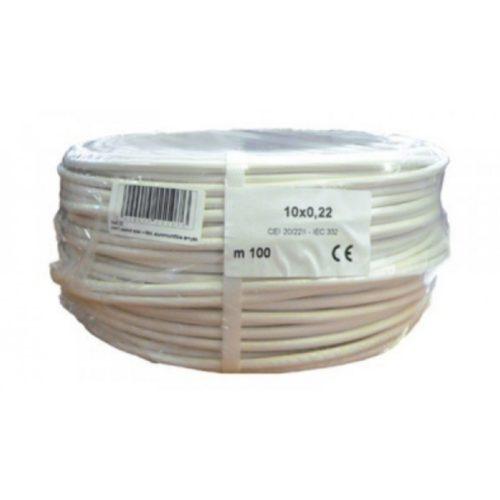 Biztonságtechnikai kábel  (10X0,22)