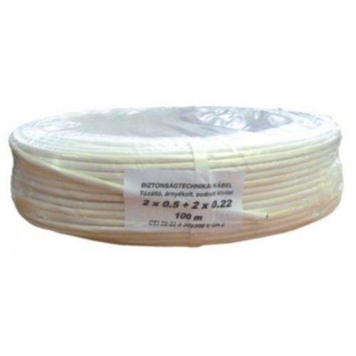 Biztonságtechnikai kábel  (2X0,5+2X0,22)