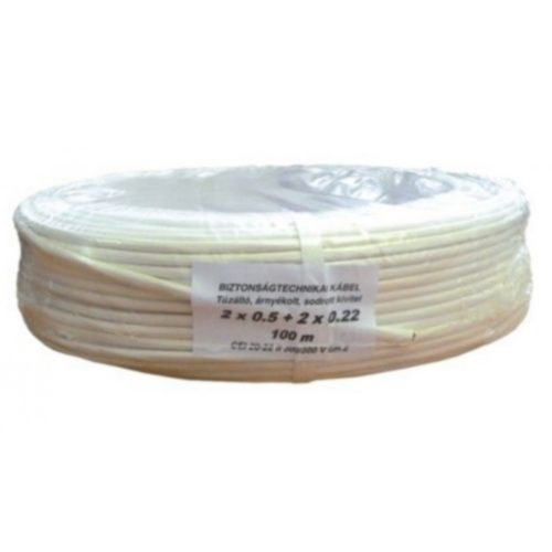 Biztonságtechnikai kábel  (2X0,5+10X0,22)