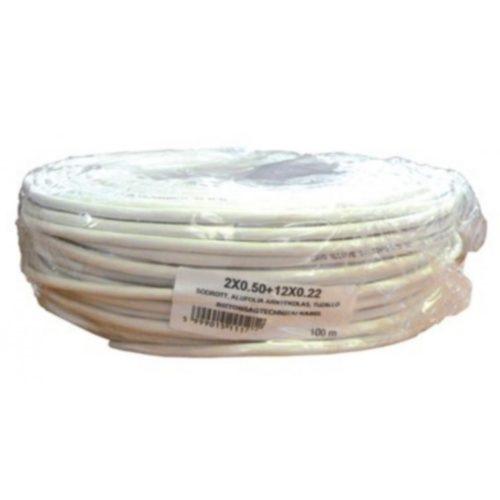 Biztonságtechnikai kábel  (2X0,5+12X0,22)