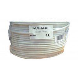 Biztonságtechnikai kábel  (2X0,5+6X0,22)