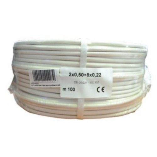Biztonságtechnikai kábel  (2X0,5+8X0,22)