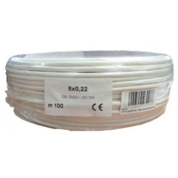 Biztonságtechnikai kábel  (8X0,22)
