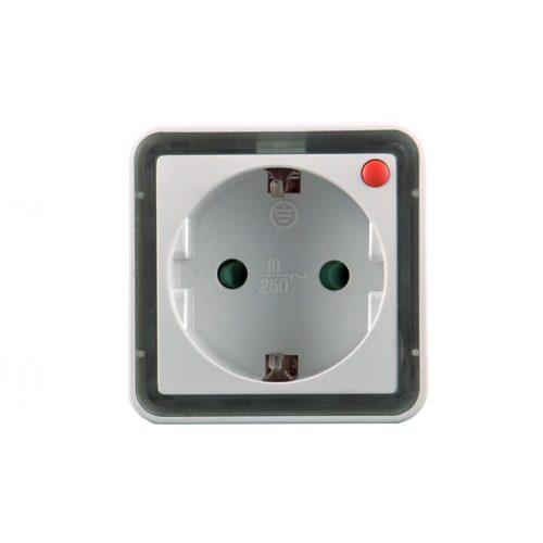 LED éjjeli fény 230Vac aljzattal, 0,8W, 2 LED, meleg fehér fényű (A34101-T)