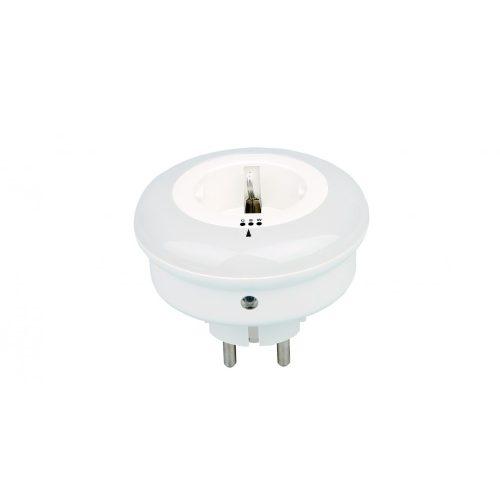 LED éjjeli fény 230Vac aljzattal, 0,8W, 9 LED, 3 állítható szín (A34103-M)