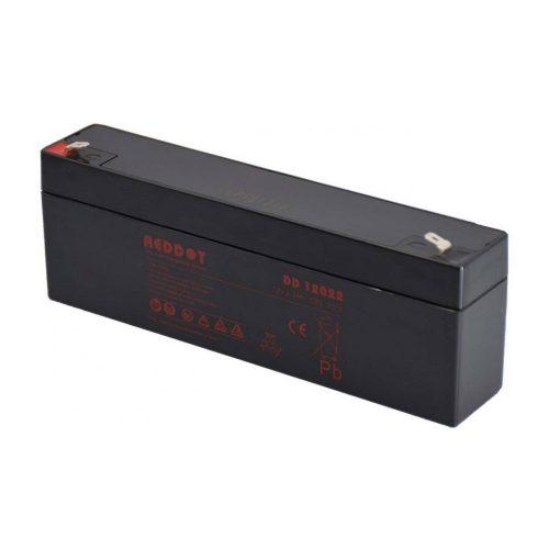 Akkumulátor, REDDOT 12V 2,2Ah (AK12V-2-2AhREDDOT)