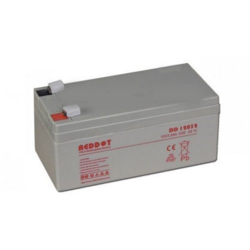 Akkumulátor, REDDOT 12V 3Ah (AK12V-3AhREDDOT)