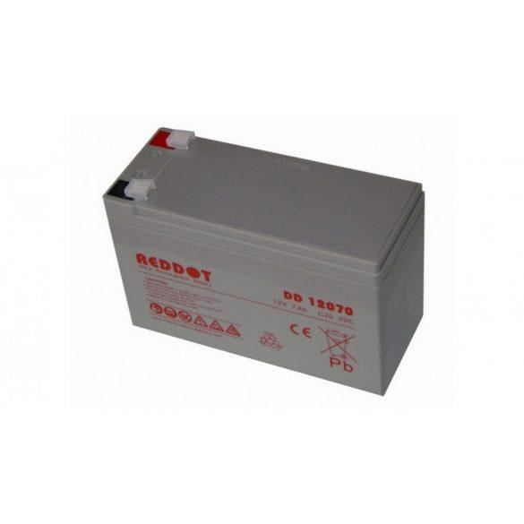 Akkumulátor, REDDOT 12V 7Ah (AK12V-7AhREDDOT)