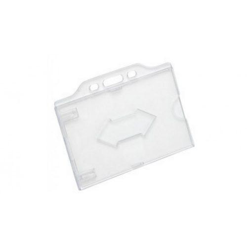 Kemény, víztiszta műanyag kártyatok vékony (0,8mm) RFID kártyákhoz horizontális (CH-026H)