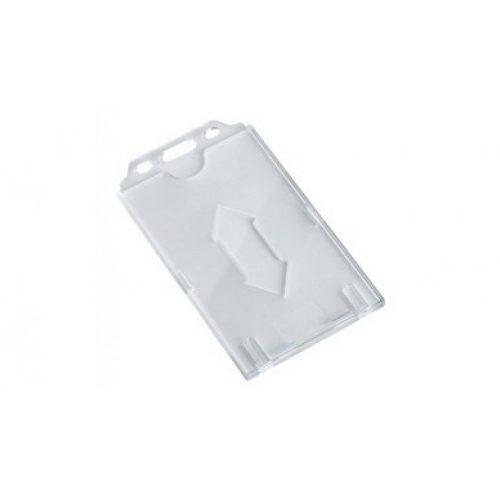 Kemény, víztiszta műanyag kártyatok vékony (0,8mm) RFID kártyákhoz vertikális (CH-026V)