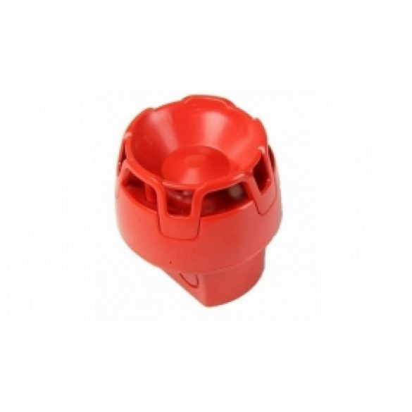 Hagyományos hangjelző, magasított aljzat (piros, IP65)