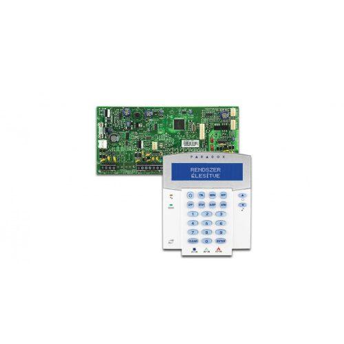 Evo 192 központ, K641 RB kártyaolvasós LCD kezelő (EVO192/K641R)