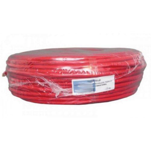 JE-H(St)H E90 2x2x1,0 tűzálló kábel merev, árnyékolt, piros LSOH (JE-H(St)H E90 2x2x1,0)