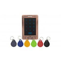 Érintőgombos kültéri RFID olvasó és kódzár (KIT-CON-M3)