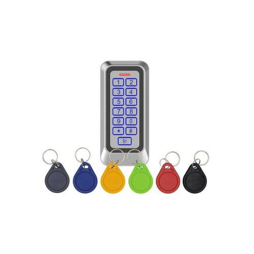 Érintőgombos kültéri RFID olvasó és kódzár (KIT-CON-M6)