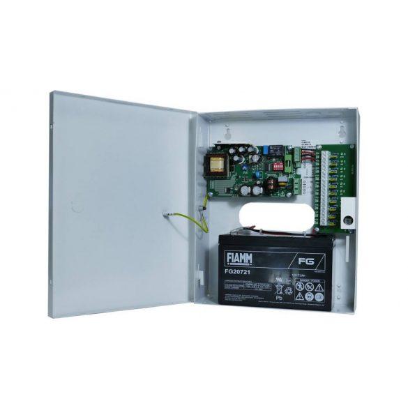 Szünetmentesíthető CCTV kamera tápegység 12V 18Ah akku hellyel 10A 13,8V (ME-140-14-10ASW-KTEI-2)