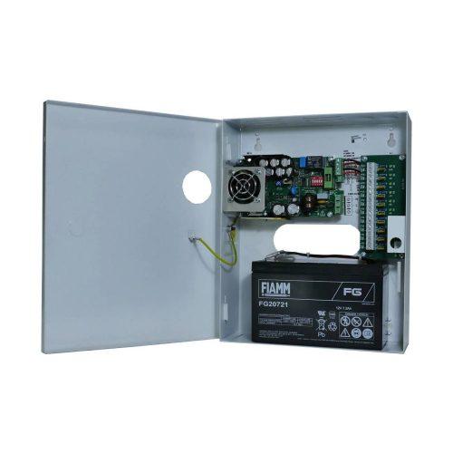 Szünetmentesíthető CCTV kamera tápegység 12V 7Ah akku hellyel 10A 13,8V (ME-140-14-10ASW-KTEI)
