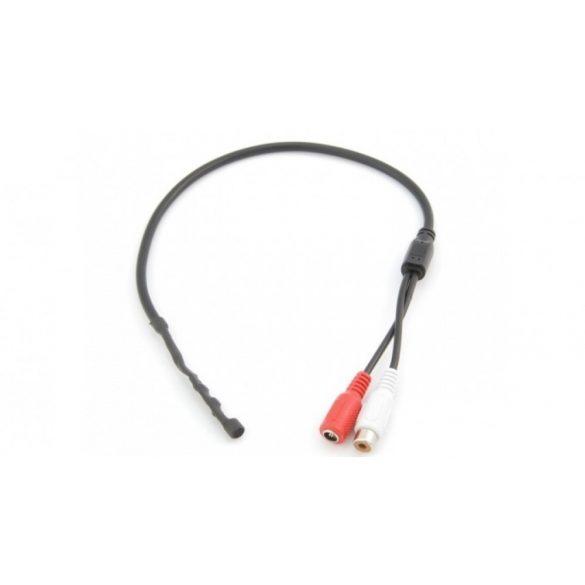 Miniatűr, tokozás nélküli mikrofon, csatlakozós kivezetésekkel (MIC002)