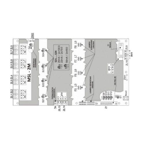 4 címezhető hurok/vonal bővítő modul (MSL-2M)