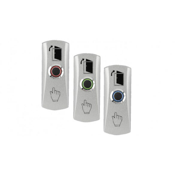 LED-es fém házas mikrokapcsolós nyomógomb 83x32x25 NO (PBK-815-LED)