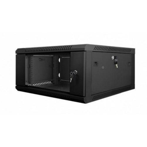 RACK faliszekrény 60X45cm fekete üvegajtós 4U magas (RACKL60X45X4U)