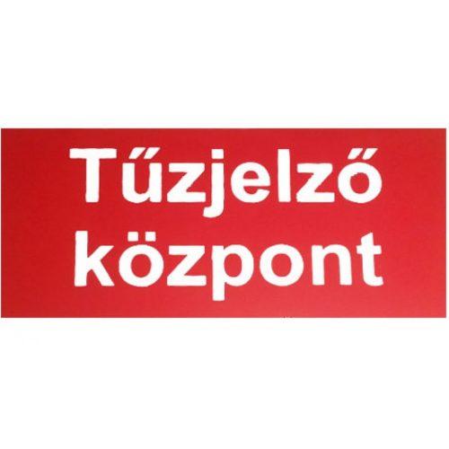UTÁNVILÁGÍTÓS TÁBLA 200x100  TŰZJELZŐ KÖZPONT (UTÁNVIL.K05a)