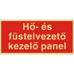 UTÁNVILÁGÍTÓS TÁBLA 200x100  HŐ ÉS FÜSTELVEZETŐ (UTÁNVIL.K05b)