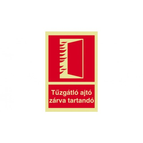 UTÁNVILÁGÍTÓS TÁBLA 150x200 Tűzgátló ajtó (UTÁNVIL.K08b)