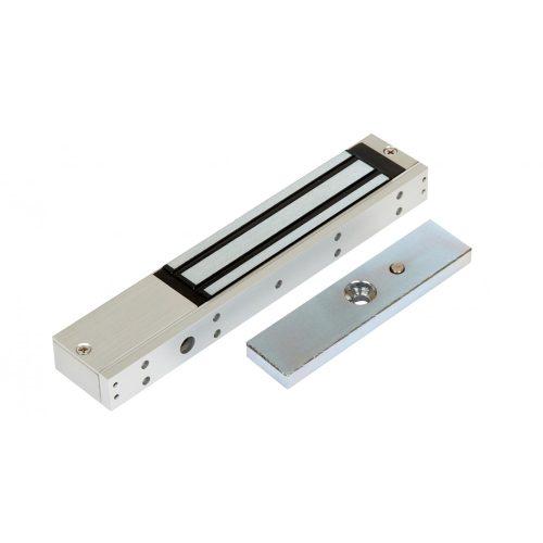 Rátét síkmágnes, 180kg tartóerő, 12/24Vdc, 210x40x21mm, visszajelző LED (ZOA-180)