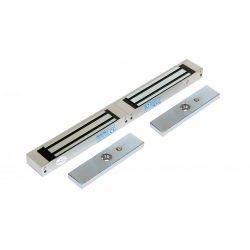 Rátét dupla síkmágnes, 2x180kg tartóerő, 24Vdc, 420x40x21mm, visszajelző LED, kétszárnyas ajtókhoz (ZOA-180D)