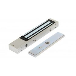 Rátét síkmágnes, 230kg tartóerő, 12/24Vdc, 250x47x25mm, visszajelző LED (ZOA-230)