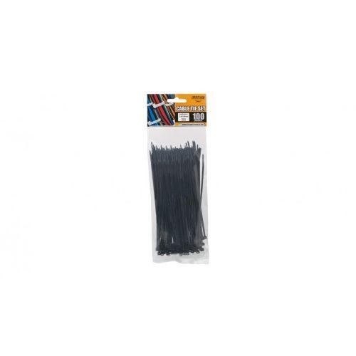 Vezeték kötegelő fekete 150x2,5mm (kotegelo-05413)